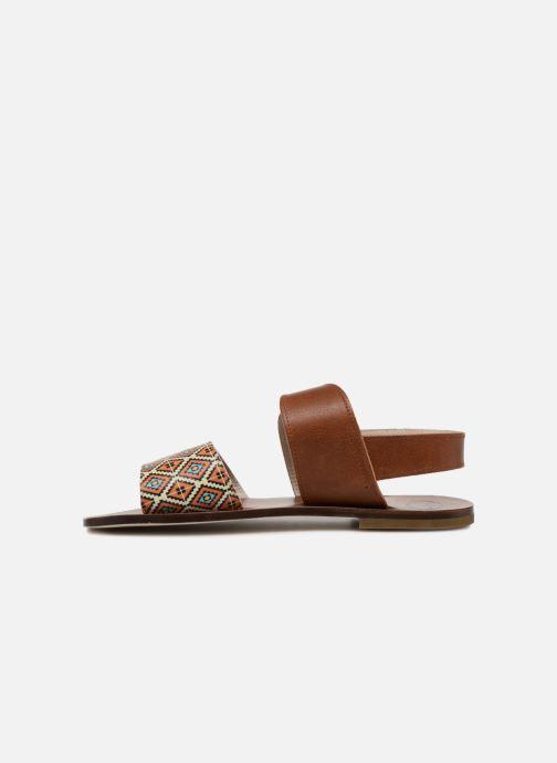Sandales et nu-pieds PèPè Anouk Marron vue face
