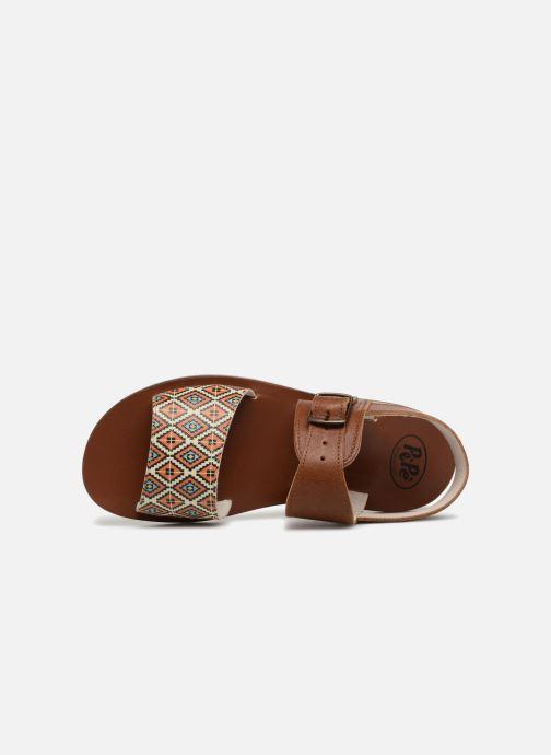 Sandales et nu-pieds PèPè Anouk Marron vue gauche