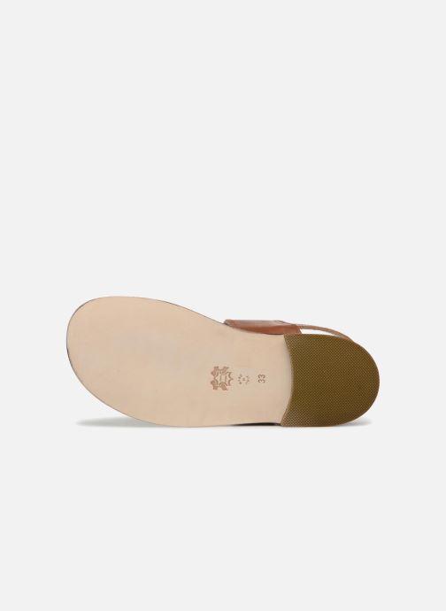 Sandales et nu-pieds PèPè Anouk Marron vue haut