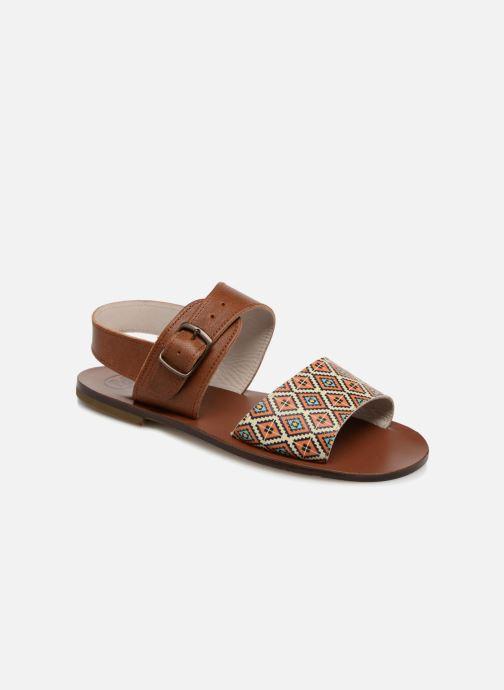 Sandales et nu-pieds PèPè Anouk Marron vue détail/paire