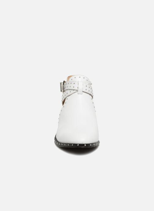 Bottines et boots Bronx BTEX-CHUNKY Blanc vue portées chaussures