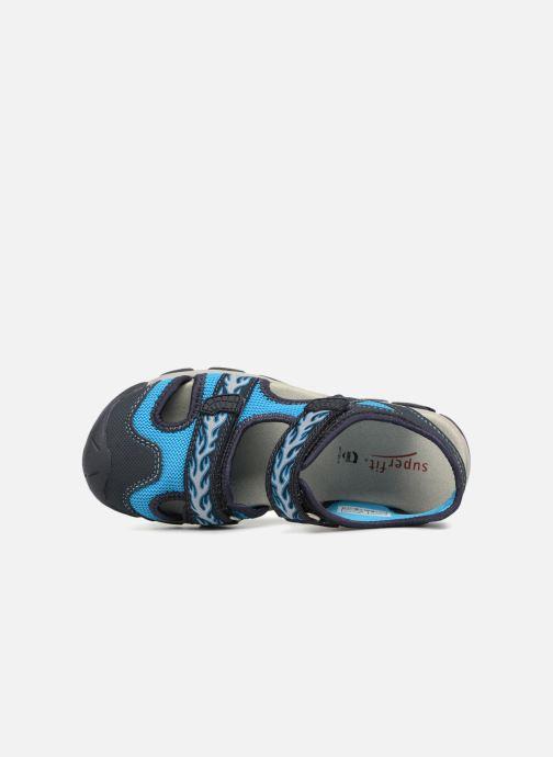 Sandales et nu-pieds Superfit Octopuss 2 Bleu vue gauche