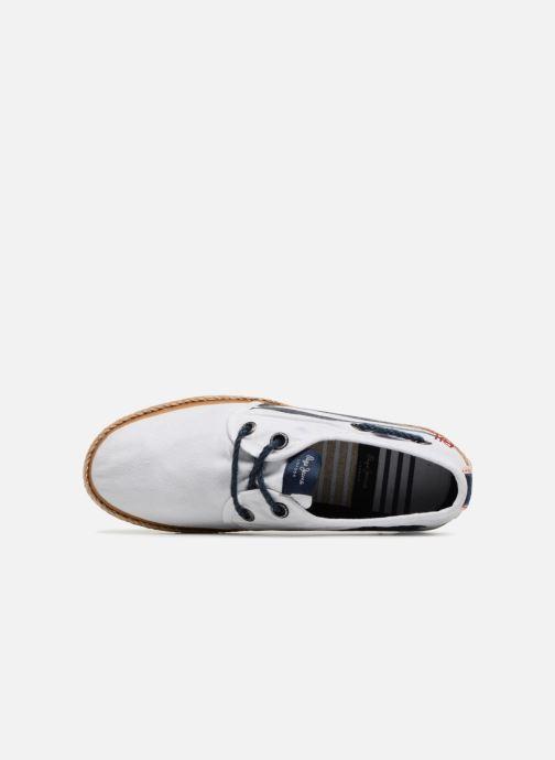 Espadrilles Pepe jeans Sailor Tape Blanc vue gauche
