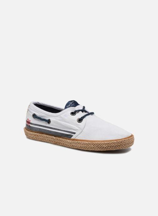Espadrilles Pepe jeans Sailor Tape Blanc vue détail/paire