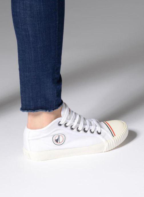 Sneaker Pepe jeans Industry Nylon weiß ansicht von unten / tasche getragen