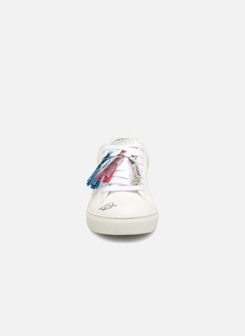 Baskets Pepe jeans Adams Tassels Blanc vue portées chaussures