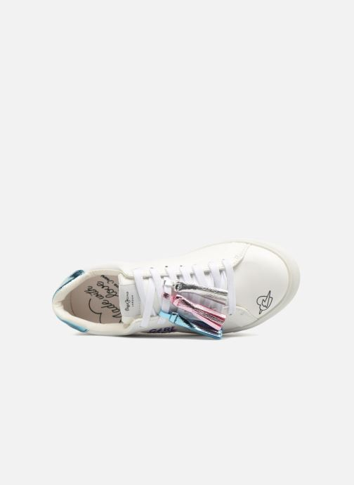 Trainers Pepe jeans Adams Tassels White view from the left
