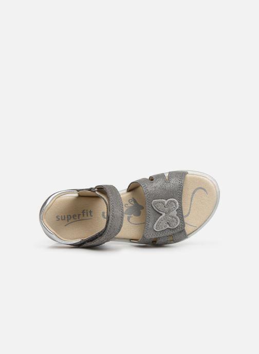 Sandalen Superfit Maya grau ansicht von links