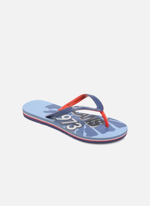 Flip flops & klipklapper Pepe jeans Beach Blue Blå detaljeret billede af skoene
