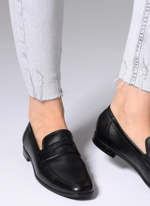 0ece1b3b75f Loafers Vagabond Shoemakers Marilyn 4502-301 Black view from underneath    model view