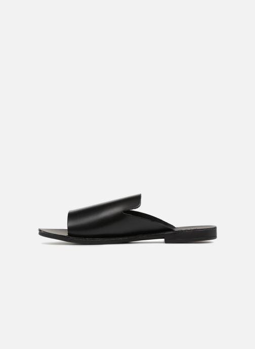 Zuecos Pieces Peninna Leather sandal Negro vista de frente
