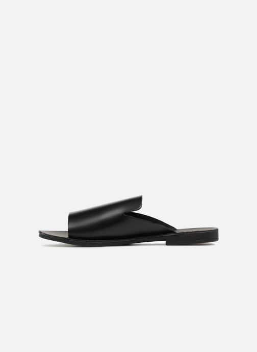 Zuecos Pieces Peninna Leather sandal Negro vista de frente