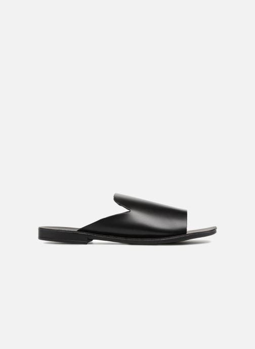 Zuecos Pieces Peninna Leather sandal Negro vistra trasera