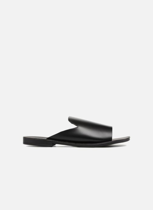 Zuecos Pieces Peninna Leather sandal Negro vistra trasera