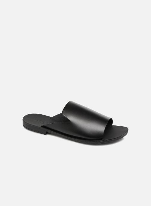 Zuecos Pieces Peninna Leather sandal Negro vista de detalle / par