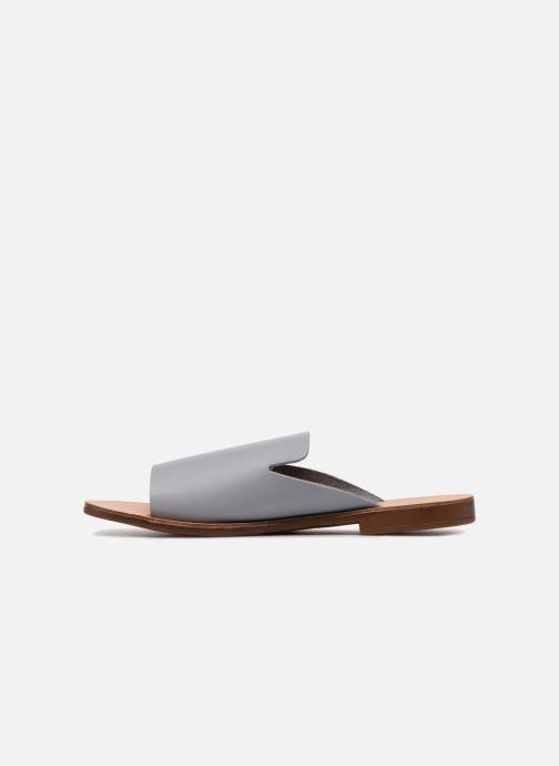 Zuecos Pieces Peninna Leather sandal Gris vista de frente