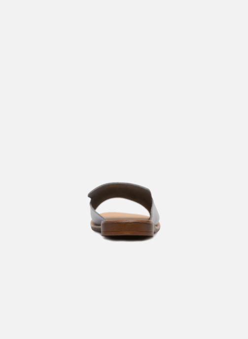Zuecos Pieces Peninna Leather sandal Gris vista lateral derecha