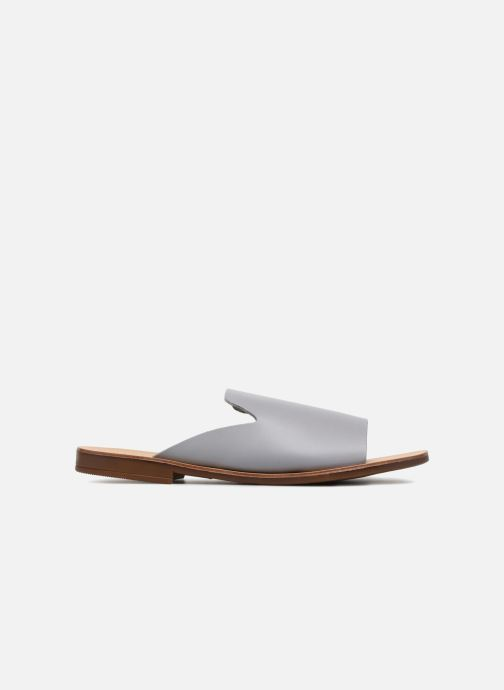 Zuecos Pieces Peninna Leather sandal Gris vistra trasera