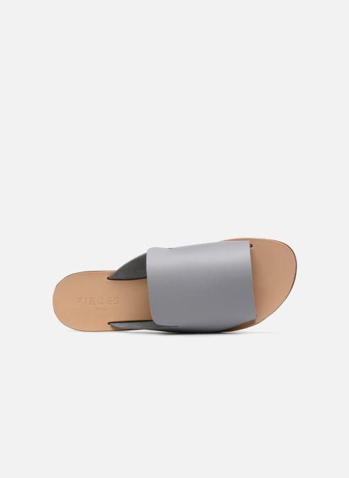 Zuecos Pieces Peninna Leather sandal Gris vista lateral izquierda