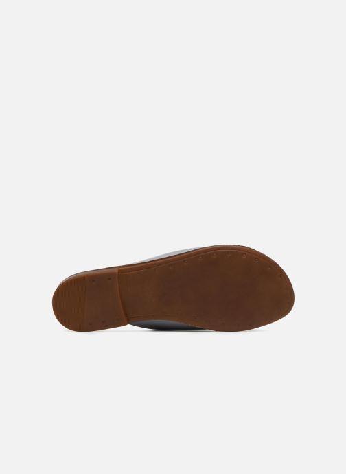 Zuecos Pieces Peninna Leather sandal Gris vista de arriba