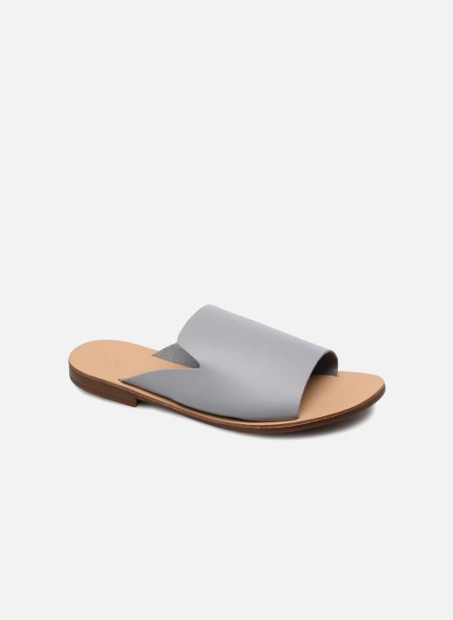 Mules & clogs Pieces Peninna Leather sandal Grey detailed view/ Pair view