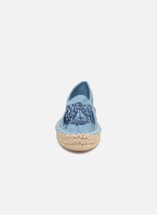 Espadrilles Pieces Haila tiger espadrille Bleu vue portées chaussures