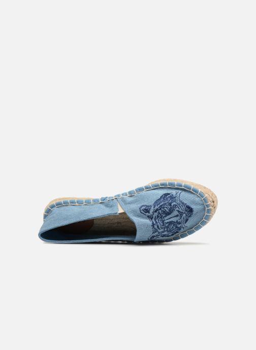 Espadrilles Pieces Haila tiger espadrille Bleu vue gauche