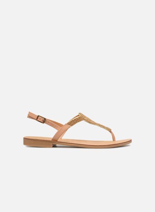 Sandalen Pieces Carmen leather sandal Beige achterkant