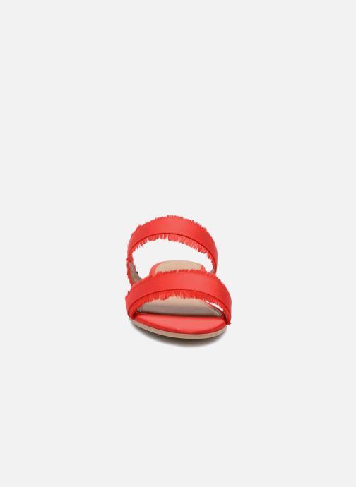 Mules et sabots Pieces Mio sandal Rouge vue portées chaussures