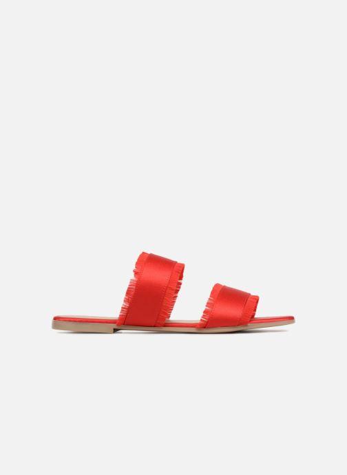 Wedges Pieces Mio sandal Rood achterkant
