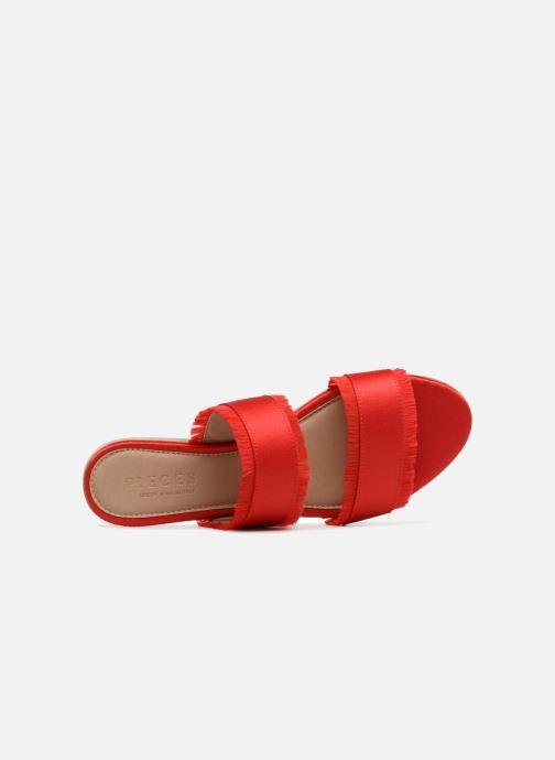 Mules et sabots Pieces Mio sandal Rouge vue gauche