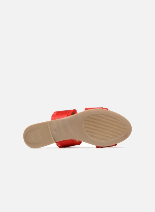Mules et sabots Pieces Mio sandal Rouge vue haut