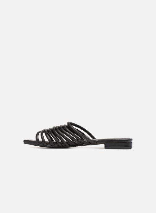 Zuecos Vagabond Shoemakers Becky Negro vista de frente