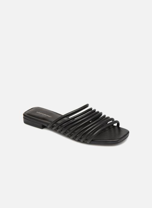Zuecos Vagabond Shoemakers Becky Negro vista de detalle / par