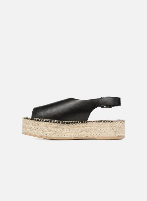 Alpargatas Vagabond Shoemakers Celeste 4533-101 Negro vista de frente