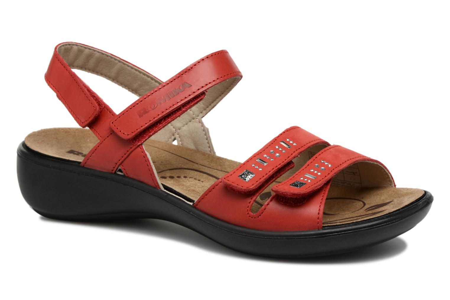 Sandals Romika Ibiza 86 Red detailed view/ Pair view