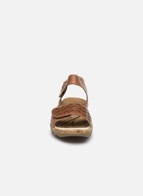 Sandales et nu-pieds Westland Gina 02 Marron vue portées chaussures