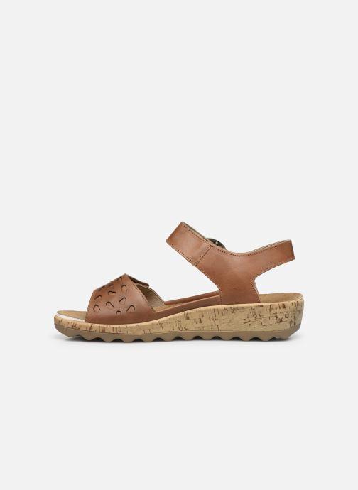 Sandales et nu-pieds Romika Gina 02 Marron vue face