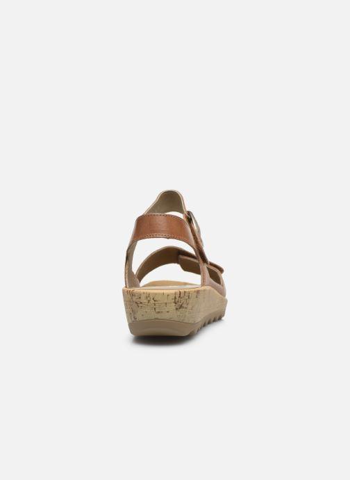 Sandales et nu-pieds Westland Gina 02 Marron vue droite