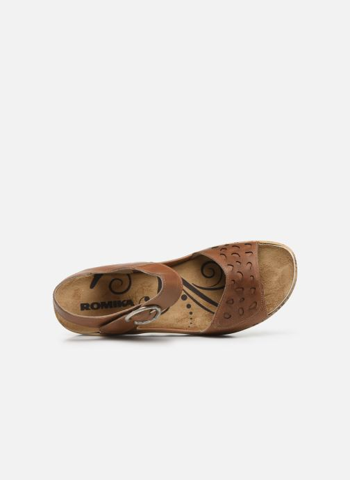Sandales et nu-pieds Westland Gina 02 Marron vue gauche
