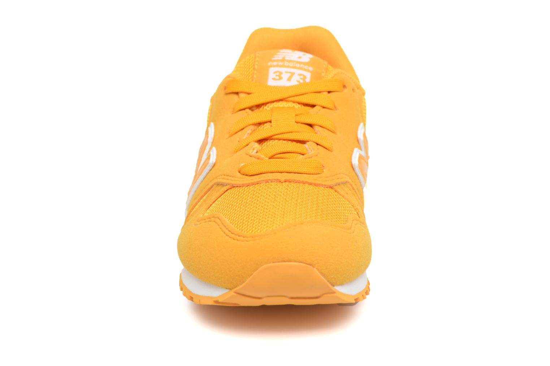 Baskets New Balance KJ373 I Jaune vue portées chaussures
