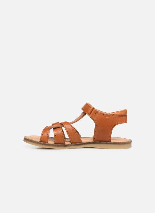 Sandales et nu-pieds Bisgaard Nettie Marron vue face