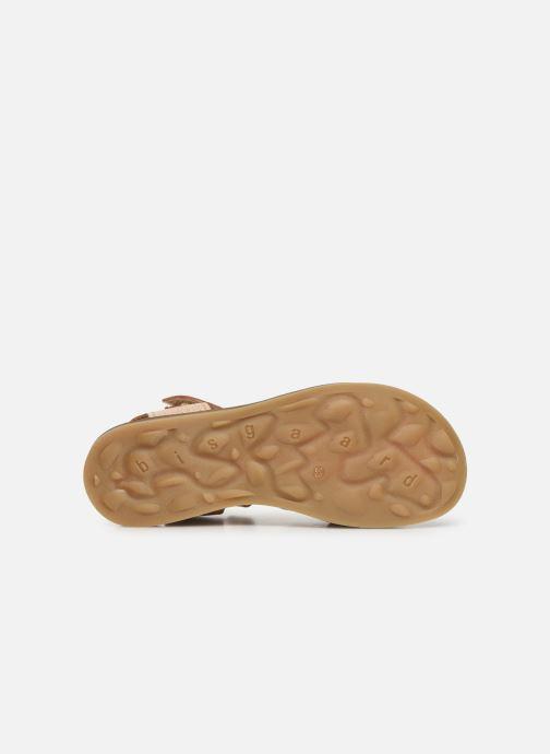 Sandales et nu-pieds Bisgaard Nettie Or et bronze vue haut