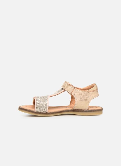 Sandales et nu-pieds Bisgaard Alma Or et bronze vue face