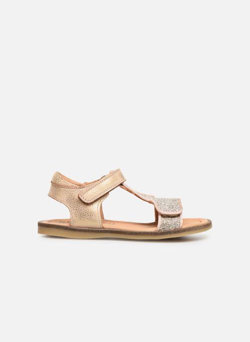 Sandales et nu-pieds Bisgaard Alma Or et bronze vue derrière