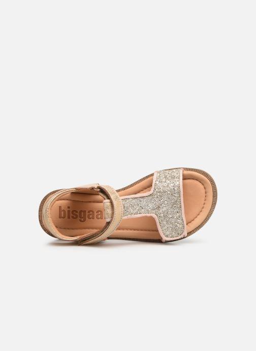 Sandales et nu-pieds Bisgaard Alma Or et bronze vue gauche