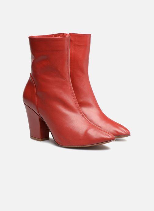 Bottines et boots BY FAR Niki boot Rouge vue 3/4