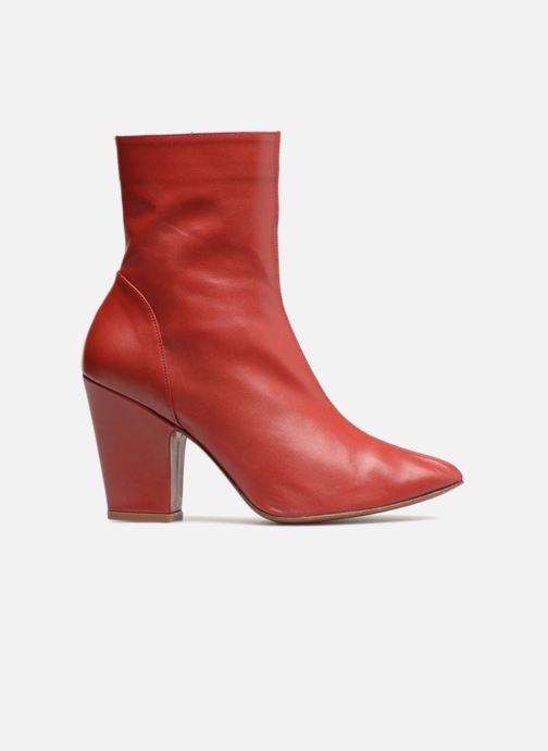 By Niki Leather Bottines Boots Red Far Et Boot iTZPkOuX