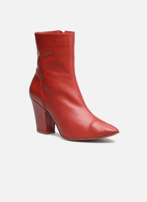 Bottines et boots BY FAR Niki boot Rouge vue détail/paire