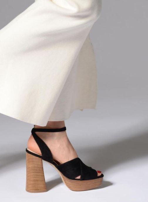 Sandales et nu-pieds Mellow Yellow Darbrienne Noir vue bas / vue portée sac